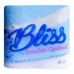 Luxury Bliss Double Quilted Toilet Rolls