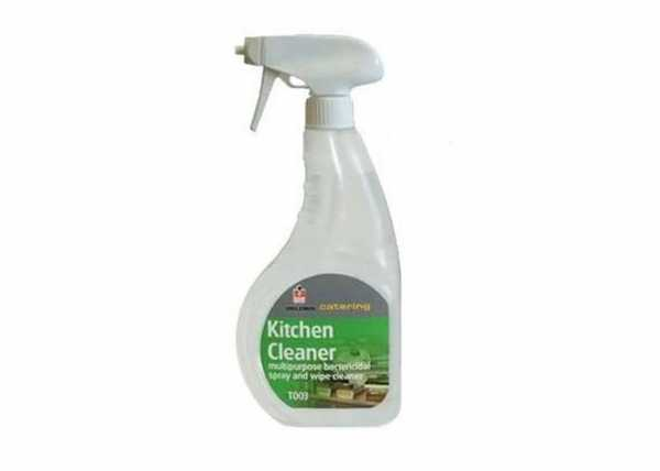 Multipurpose fast acting bactericidal kitchen cleaner