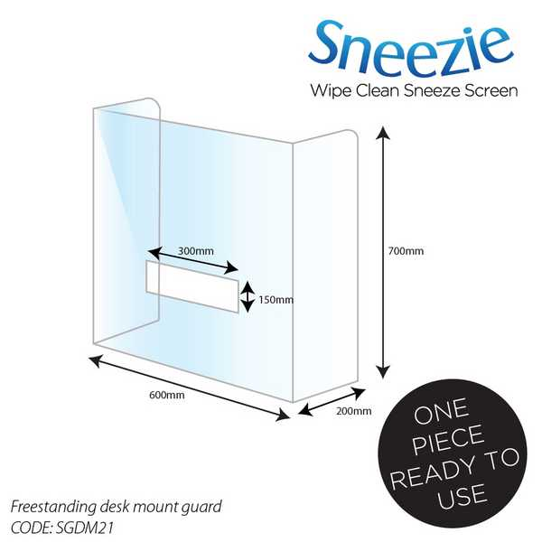 Acrylic Desk Mounted Sneeze Guards - SGDM21